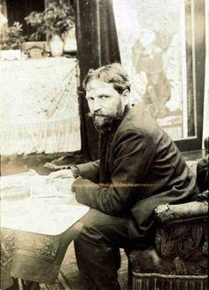 Alphonse Maria Mucha (24 July 1860 – 14 July 1939), in studio.
