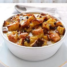 Old Fashioned Bread Pudding Recipe. A little less nutmeg and it is perfect! And NO raisins.