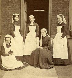 Imagen más antigua de enfermeras en el Great Ormond Street Hospital (1878)