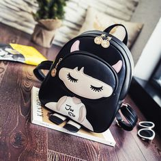Japanese Cute Fashion Schoolbags on Girly Girl の To Alice.Cute Demon Girly Pu Schoolbags Kpop Sweet Cartoon Backpack Gg598 is a must to make an amazing outfit. You can wear it in any occasion - school, office, dates, and parties.