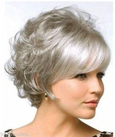 short curly hairstyles gray hair | Beautiful curly Hair Short Wig Gray Women Full Wigs(China (Mainland))