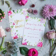 Aphrodite Watercolour Wedding Stationery Set
