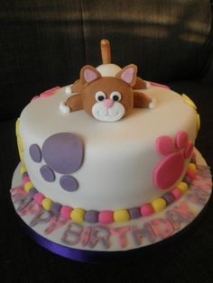 Cat themed birthday cake! is awesome