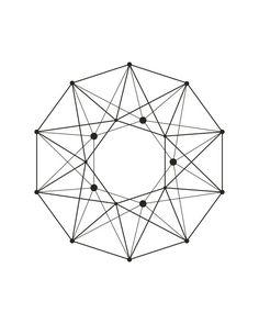 Minimalist Abstract Scandinavian Nordic Interior Black White Geometric Hexagons Polygons Decagon Stars Wall Poster Prints Decor Art Design