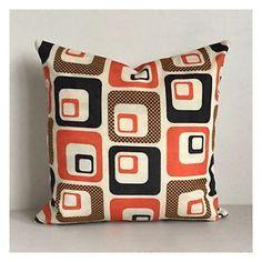 Retro-Cushion-Cover-Original-Vintage-60s-70s-Fabric-16-x-16-VW-Mod