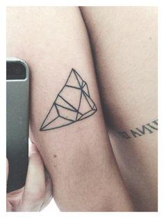 Geometric Mountain Tattoo by Kandinsky Tattoos in Tijuana, Mexico #tattoo #nature #mountain #prism