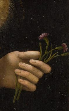 """""""Madonna of the Pinks"""" (detail), c. 1506-07, by Raphael"""