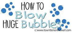 How to make HUGE Bubbles-Such fun for kids