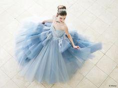 シンデレラ | プリンセスドレス | セカンドコレクション | ディズニー ウエディング ドレス コレクション Disney Wedding Dresses, Disney Princess Dresses, Wedding Gowns, 15 Dresses, Flower Girl Dresses, Formal Dresses, Vogue Magazine, Princess Wedding, Ball Gowns