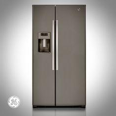 Slate Side-by-Side Refrigerator (Model GSE26HMEES)