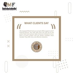 Here out what client has to say about MFI team, yet another feedback from them which motivates us as a team. . . #marketing #digitalmarketing #onlinemarketing #brandingagency #clienttestimonials #seo #advertising #adagency #advertisementdesign #creativecommunucation #brands #feedback #motivation Online Marketing, Digital Marketing, Creative Communications, Branding Agency, Advertising Design, A Team, Seo, Place Card Holders, Motivation