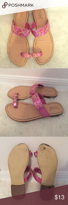 Miss Trish for Target Pink Starfish Sandals Super cute and fun Miss Trish for Target size 6 1/2 Starfish Sandals in fair condition. Shoes Sandals