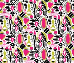 spoonflower_repeat_pink_and_green-01 fabric by amy_reber on Spoonflower - custom fabric