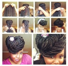 Um, yes! What a great idea to put all that hair up!