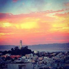 sunsets in san francisco :) #coittower