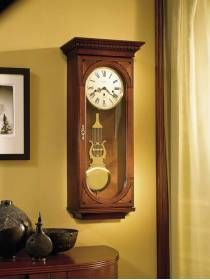 613637 Howard Key Wound Chiming Cherry Wall Clock With Pendulum Lewis This Beautiful