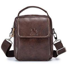 Vintage Genuine Leather Shoulder Crossbody Bag For Men