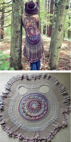 We have put together a collection of Crochet Circular Jacket Pattern Free Ideas that you are going to love. This is one of our most popular posts, check them out now. Free Form Crochet, Crochet Hook Set, Basic Crochet Stitches, Crochet Basics, Cute Crochet, Crochet Vest Pattern, Crochet Jacket, Jacket Pattern, Knitting Patterns