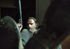 The Walking Dead Season 5 Behind-the-Scenes Photos - Andrew Lincoln (Rick Grimes) in Episode 3