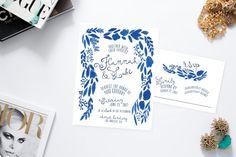 Holland Delft Blue Wedding Invitations /// Printable Wedding Invitations /// DIY…