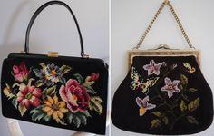 vintage needlepoint purses
