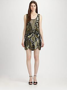 LOVE, LOVE, LOVE!!!!  If only there was a blk tie event to go to. Sigh.....    Haute Hippie Embellished Silk Illusion Dress