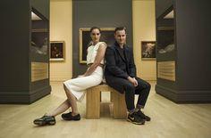 Notre designer Rudy Bois et Joanie Godbout lors du projet Images de Mode au Musée national des beaux-arts du Québec! Photographe: David Cannon www.RUDYBOIS.com #style #ootd #mode #designer #art #photgraphie