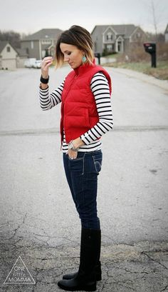 Stitch Fix Stylist - I like to look of a solid vest with a patterned shirt.  I don't love the rain boots, though.