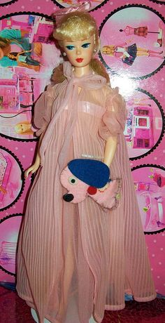 1961 Nighty Negligee Barbie; I had this set, and seeing this picture brought back fun memories....