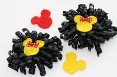 Hair bows for girls Minnie Mouse inspired | Broches para el cabello inspirados en Minnie Mouse