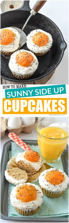 Celebrate Easter or even April Fool's Day with these gluten, egg, and dairy free Sunny Side Up Cupcakes!
