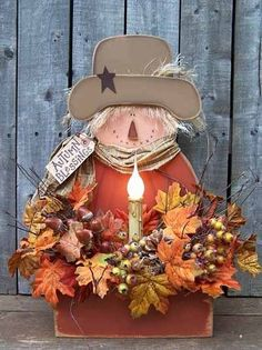 Fall Wood Crafts, Autumn Crafts, Thanksgiving Crafts, Holiday Crafts, Scarecrow Crafts, Fall Scarecrows, Fall Halloween, Halloween Crafts, Halloween Ideas