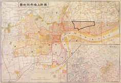 chinese map of the shanghai ghetto, 1938-1945. this was the area occupied my most european and russian jews.