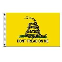 Gadsden Flag 12 IN. x 18 IN. by Ruffin Flag Company. $12.56. 12 in. x 18 in.. Its inscription represented a warning by the colonists to the British.. This flag, named after Colonel Christopher Gadsden of South Carolina, was flown early in 1776 by Commodore Esek Hopkins of Rhode Island, first Commander-in-chief of the Continental Fleet. Popular favorite for generations, this colorful, polyester flag for outdoor use features sturdy construction including white duck headings and st...