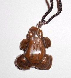 $7.99 1 of a Kind Large Natural Shiny Tiger Eye (A) Crystal Gemstone Frog Pendant: Jewelry: Amazon.com