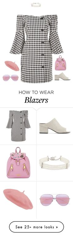 """""""Untitled #2550"""" by voidpietro on Polyvore featuring Topshop, Moschino, Christian Dior, 3.1 Phillip Lim and Kenneth Jay Lane"""