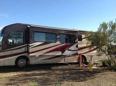 2013 Used Alfa Founder Class A in Arizona AZ.Recreational Vehicle, rv, Complete conversion in 2013 on a 05 Alfa Chassis. Class A Motorhome in immaculate condition, inside & out. Diesel Pusher, Cat C&/350 HP with only 32,700 miles, Freightliner chassis w/50,000 mile warranty, Allison 6-sp automatic transmission, chrome wheels with new tires (less than 4,000 miles), new fiberglass exterior (yes, all new fiberglass), new custom paint job, new roof, 2 slides, (1-lrg DR & LR & 1 bedroom), Xantrex