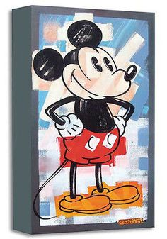 "DISNEY FINE ART-"" HIP TO BE SQUARED ""-SIZE: 18 X 10 