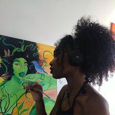 Healing isn't always pretty Black Women Art, Beautiful Black Women, Black Art, Black Girls, Art Hoe Aesthetic, Black Girl Aesthetic, Knight In Shining Armor, Pelo Natural, Friend Outfits
