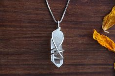 Madagascar Quartz Point Pendant. Quartz from Madagascar is referenced as having an especially 'ancient' flavor, connecting us to ancient earth wisdom of civilizations from long ago.