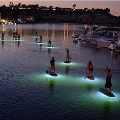 Evening glow.......    Paddle boarding in The Bay, Newport #Beach   #NewportBeach  #California
