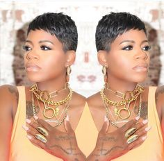 New cut Short Black Hairstyles cut Black Women Short Hairstyles, Edgy Short Hair, Braids For Black Hair, Cute Hairstyles For Short Hair, Weave Hairstyles, Short Hair Cuts, Pixie Cuts, Ladies Hairstyles, Casual Hairstyles