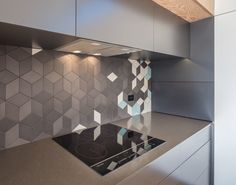 Induction cook top by FisherPaykel + Mutina Tiles