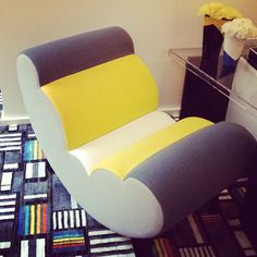 Another color block moment @ElleDecor - fashion in the home!