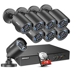Annke Kit 8CH DVR Ultra HD 4K H.265 und 4/×4K HD /Überwachungskameras 8+4 4K 1TB HDD