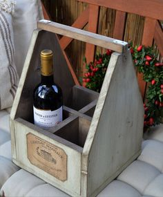 Nábytok - Prenosná debnička na fľaše - 7223401_