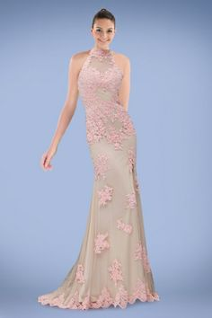 amazing-high-collar-sheath-evening-dress-with-beaded-appliques-and-endearing-slit