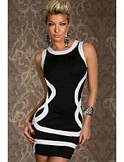 Geometria Moda Pacote Nádegas Vestido das mulheres