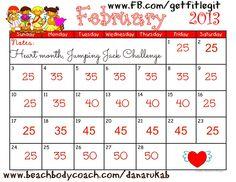 30 day jumping jack challenge by AmySZ wwwamyszwerluga