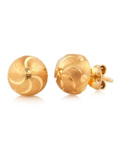 Floral 925 Sterling Silver, Gold Plated Studs